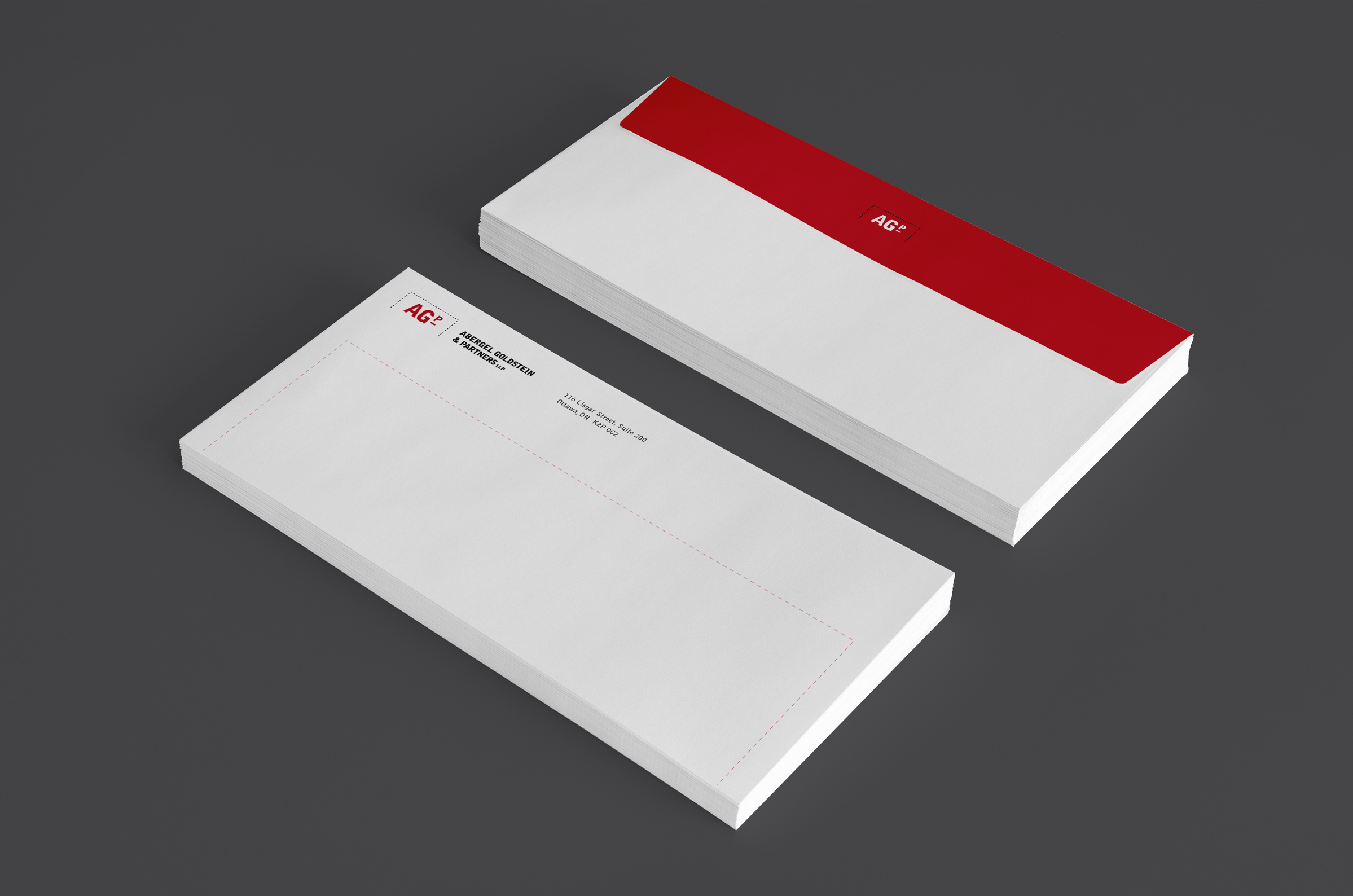 Envelope for Abergel Goldstein & Partners, an Ottawa law firm, by Graphic Designer idApostle