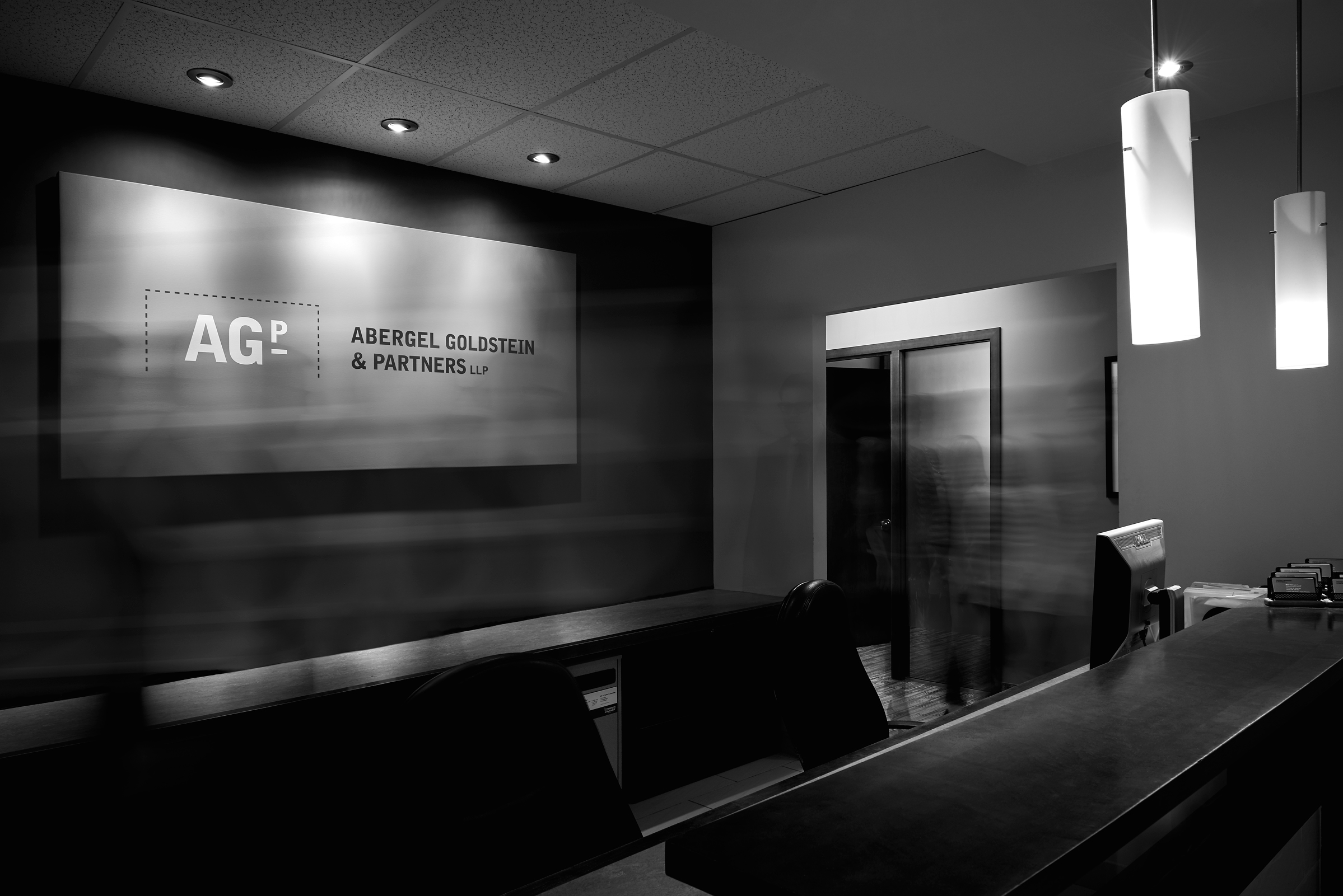 Signage for Abergel Goldstein & Partners, an Ottawa law firm, by Graphic Designer idApostle