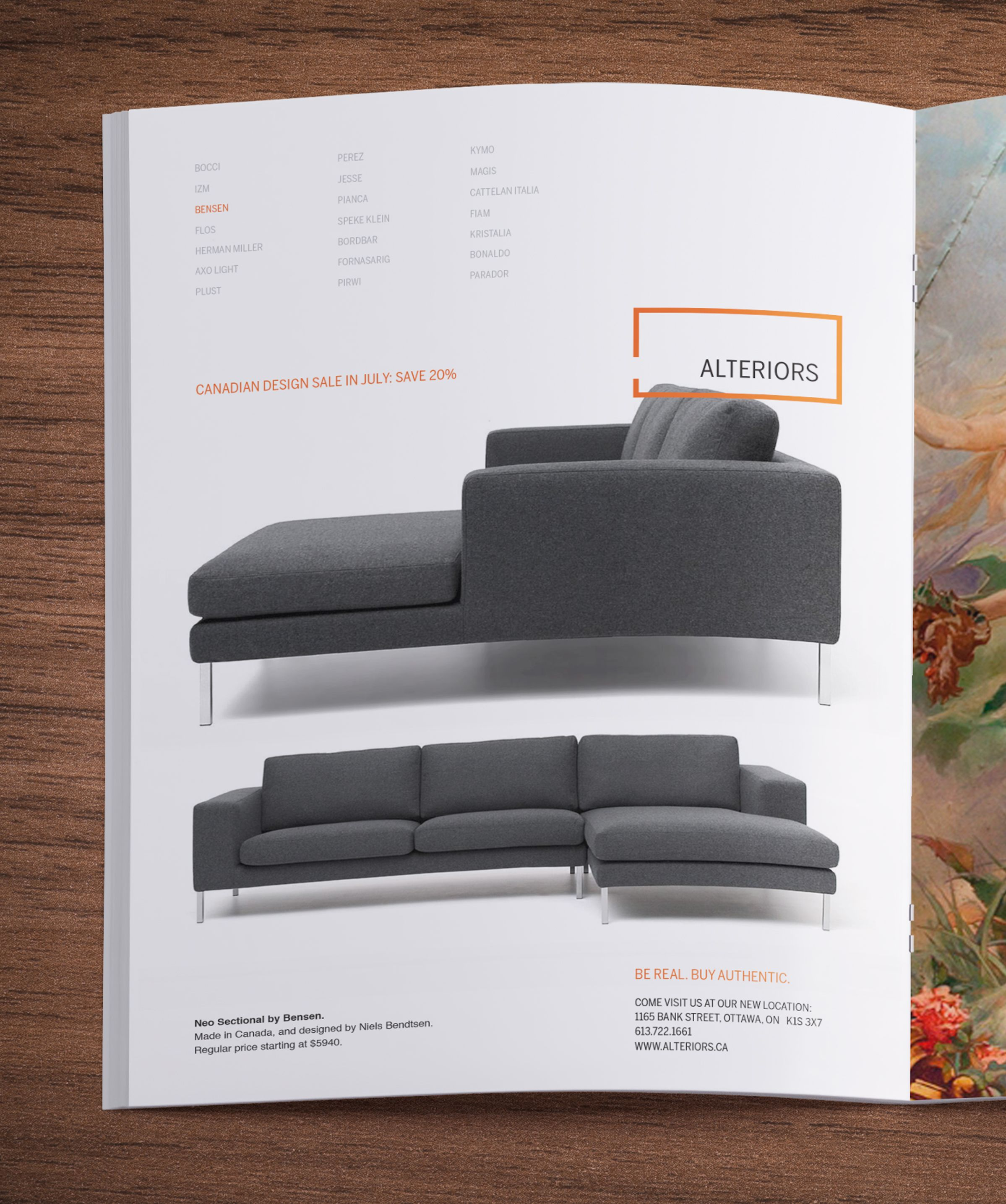 Print Advertisement for Alteriors, a retail furniture store, by Graphic Designer idApostle