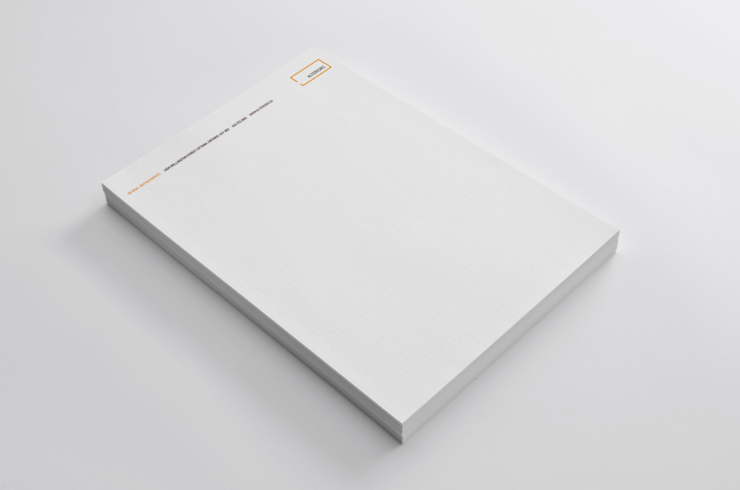 Letterhead for Alteriors, an Ottawa retail furniture store, by Graphic Designer idApostle