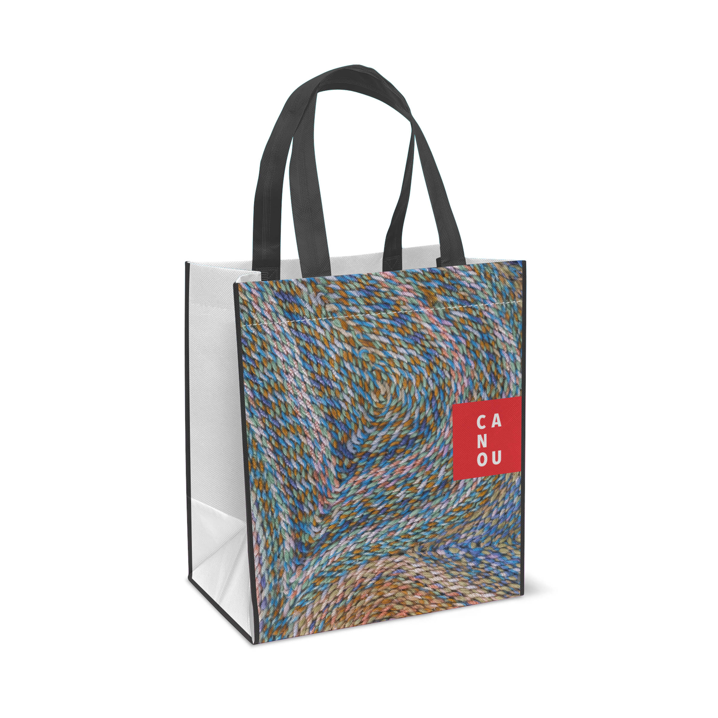 Shopping Bag for Canou, a Québec product manufacturer, by Ottawa Graphic Design Studio idApostle