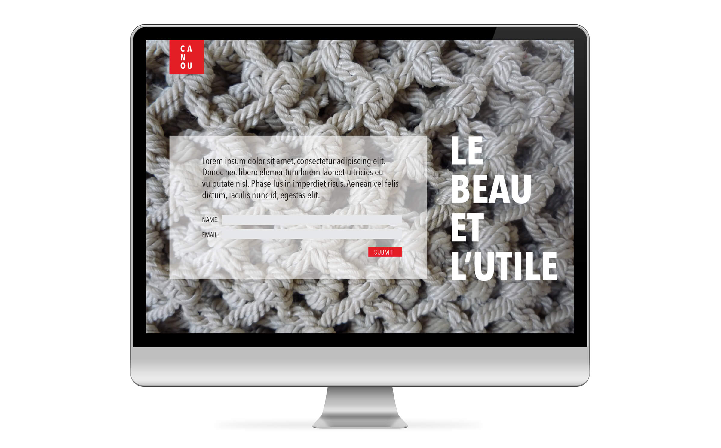 Website for Canou, a Québec product manufacturer, by Ottawa Graphic Design Studio idApostle