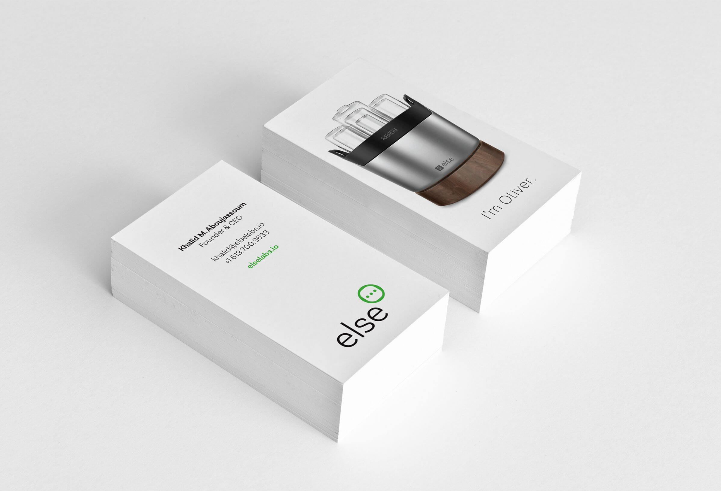 Else Labs business cards version 1 by Ottawa graphic designer idApostle