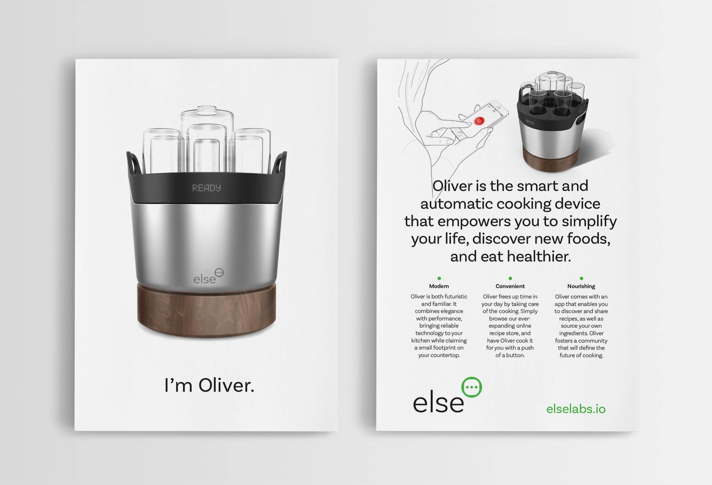 Else Labs postcard by Ottawa graphic designer idApostle
