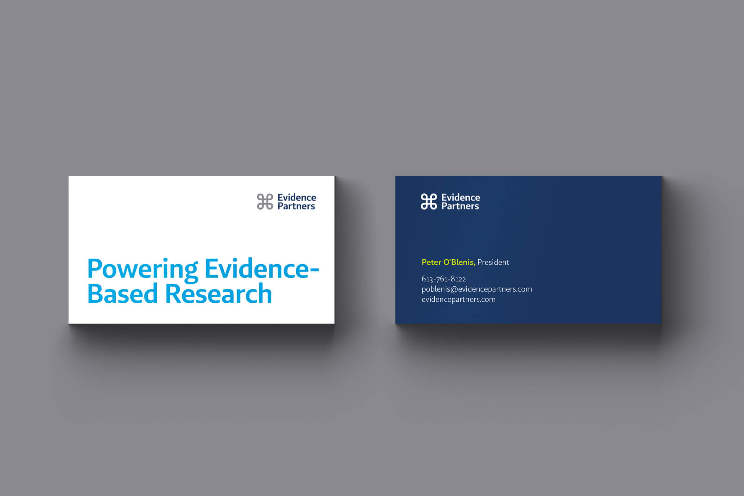 Evidence Partners Business Card by Ottawa Graphic Designer idApostle