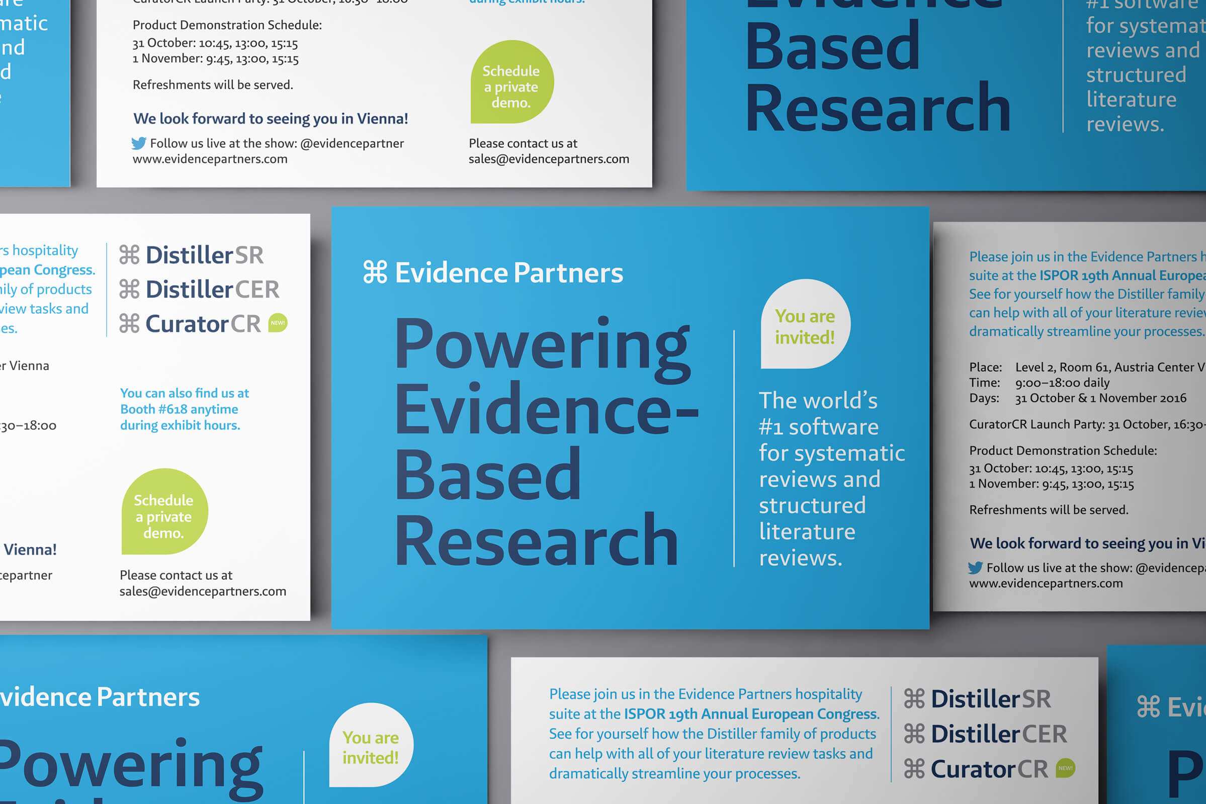 Evidence Partners Postcard by Ottawa Graphic Designer idApostle