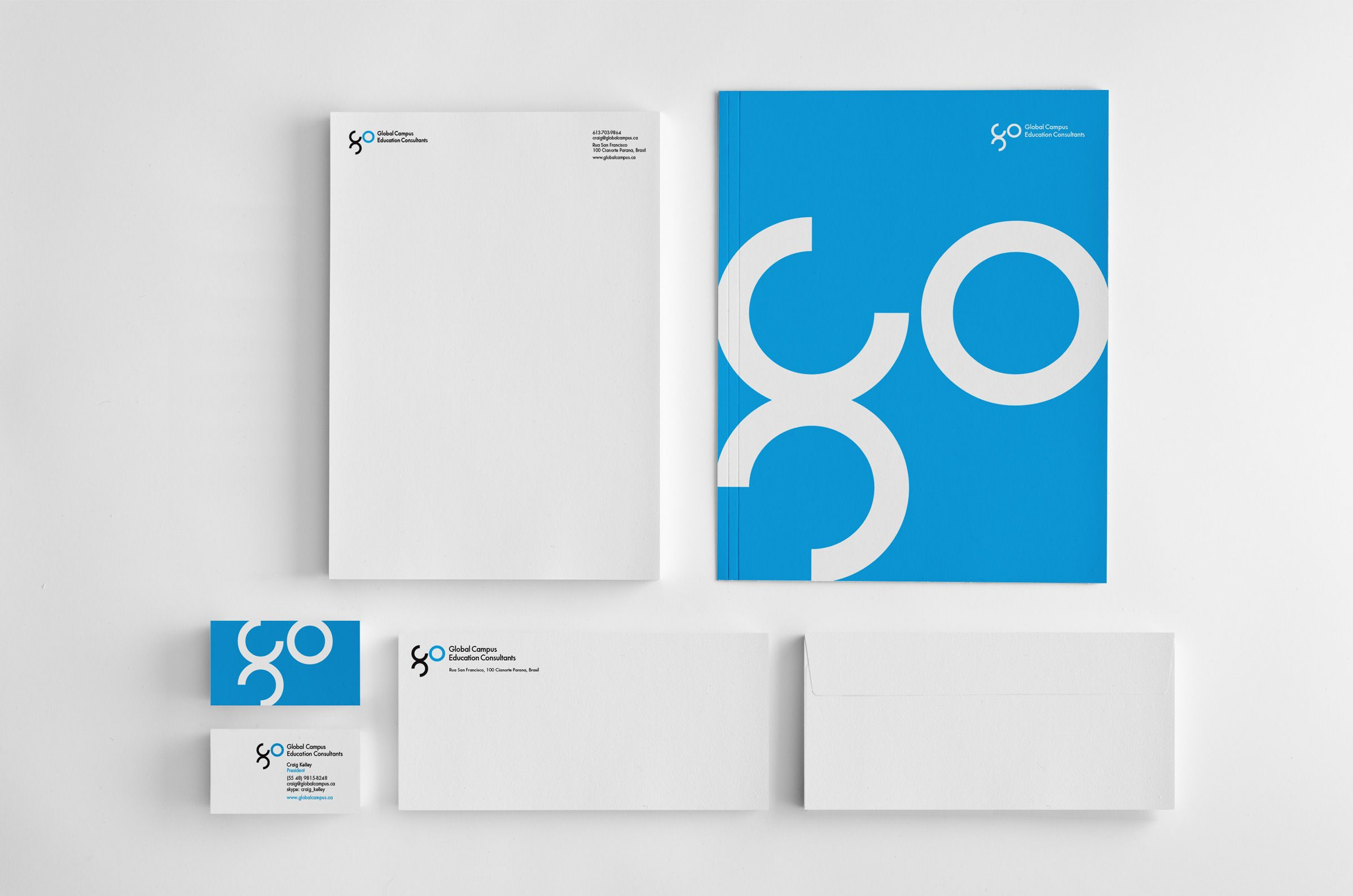 Stationery for Global Campus Education Consultants, a student recruitment company by Ottawa Graphic Designer idApostle