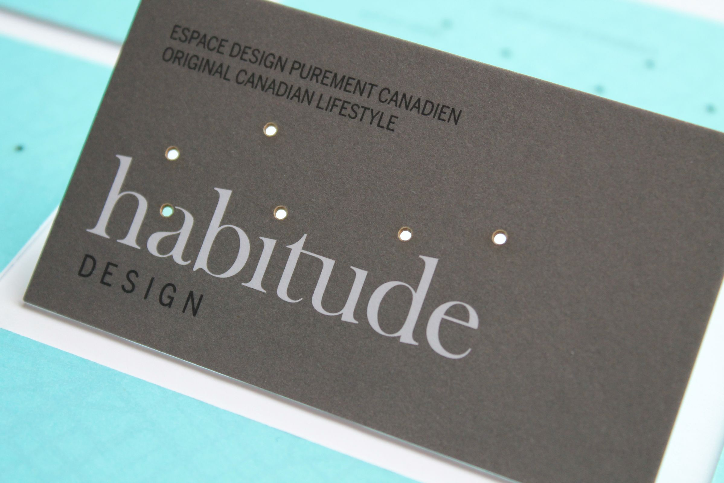 Laser Cut Business Card for Habitude, a Québec lifestyle and product company by Ottawa Graphic Designer idApostle