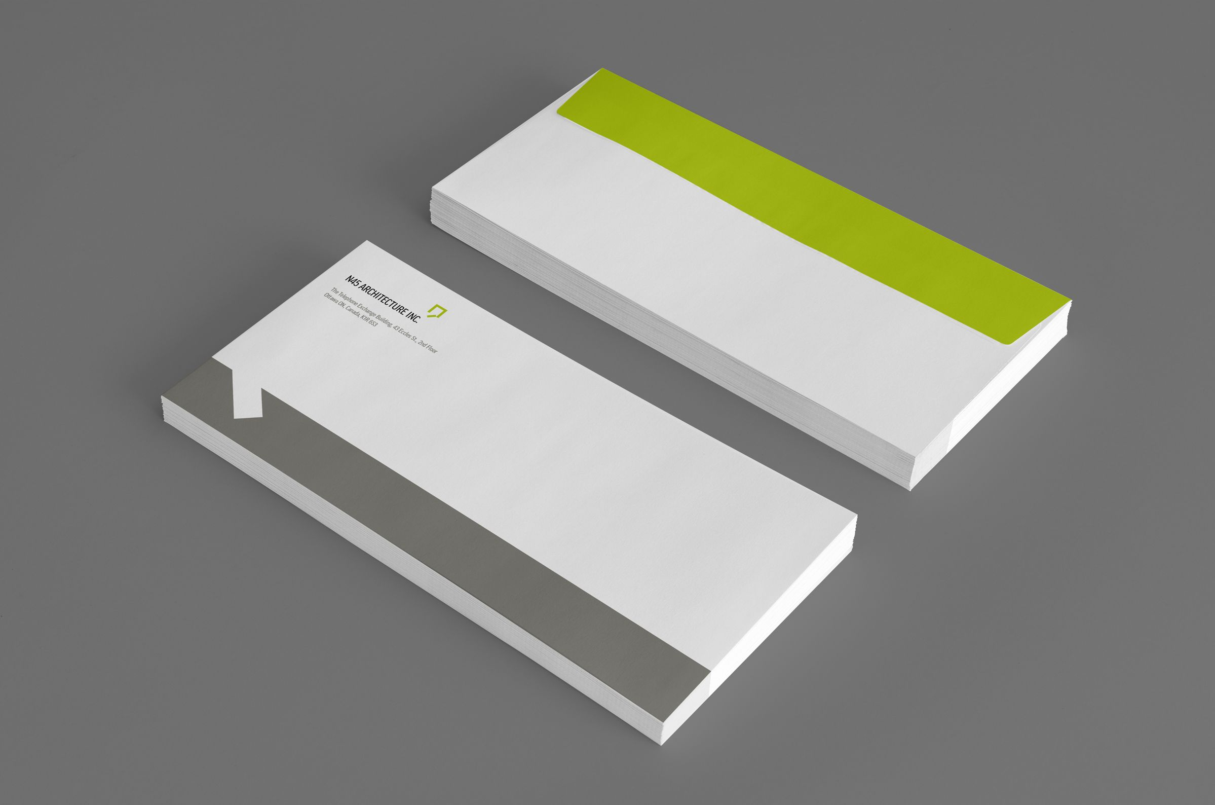 Envelope for N45 Architecture Inc., architects by Graphic Designer idApostle