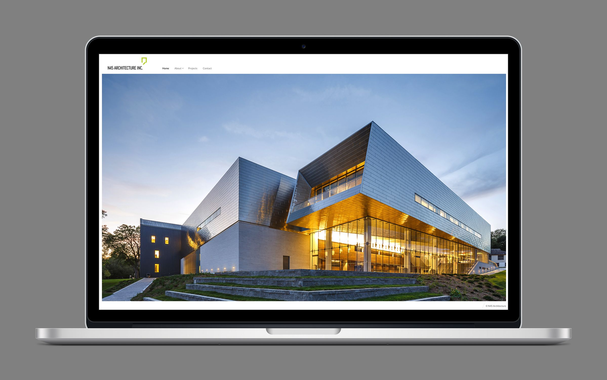 Website 1 for N45 Architecture Inc., architects by Graphic Designer idApostle