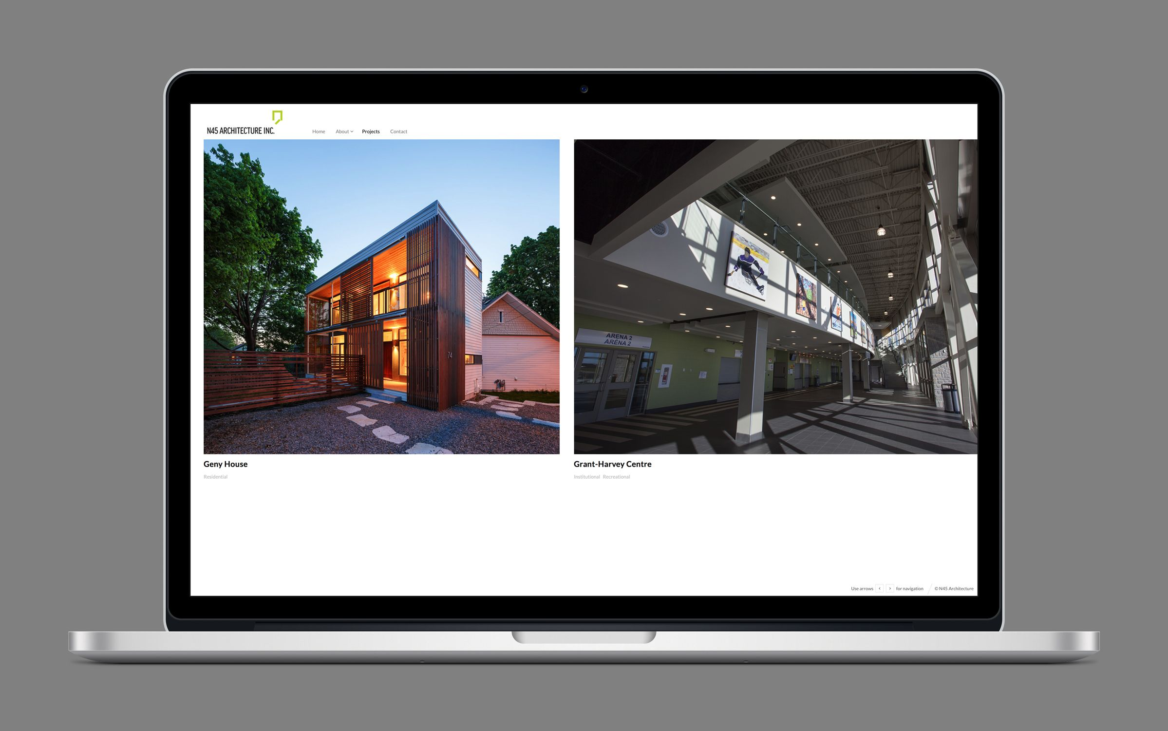 Website 3 for N45 Architecture Inc., architects by Graphic Designer idApostle