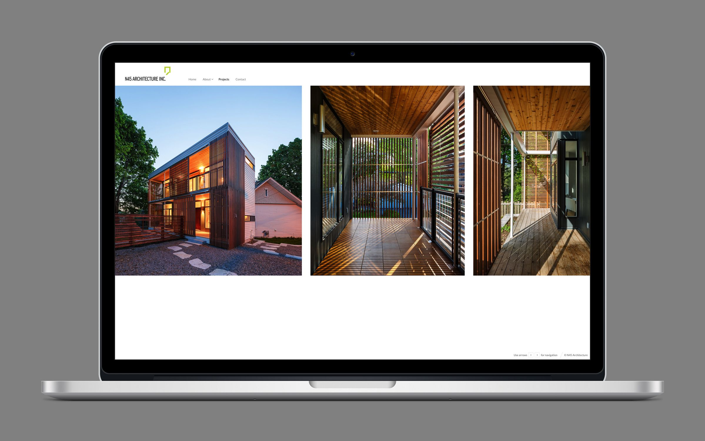 Website 5 for N45 Architecture Inc., architects by Graphic Designer idApostle
