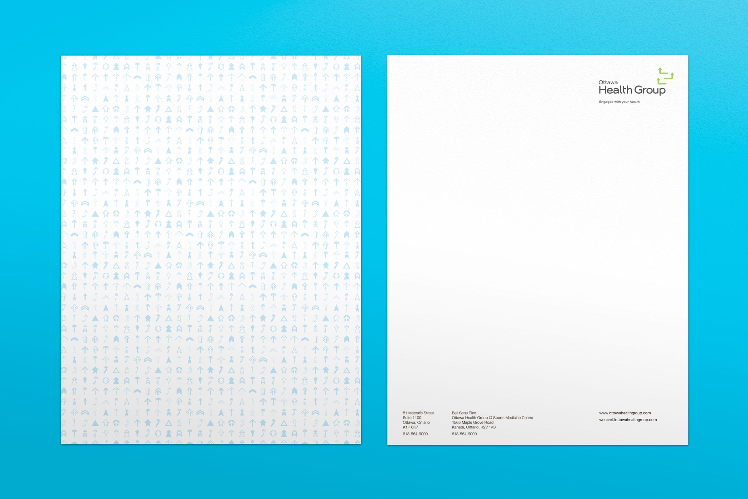 Letterhead for Ottawa Health Group, a health care provider by Graphic Designer idApostle