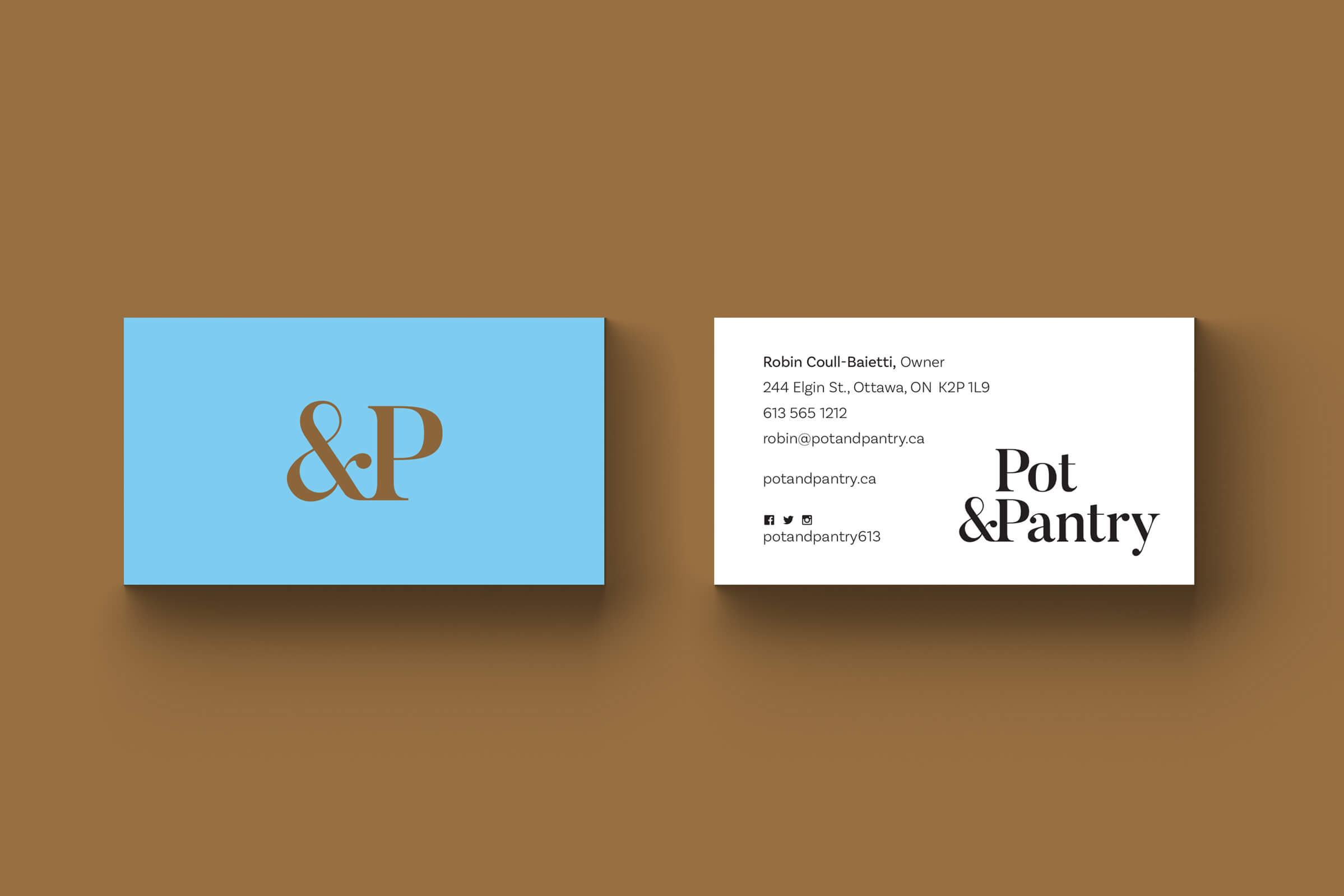 Business Cards for Pot & Pantry, an Ottawa kitchenware store by Graphic Design Studio idApostle