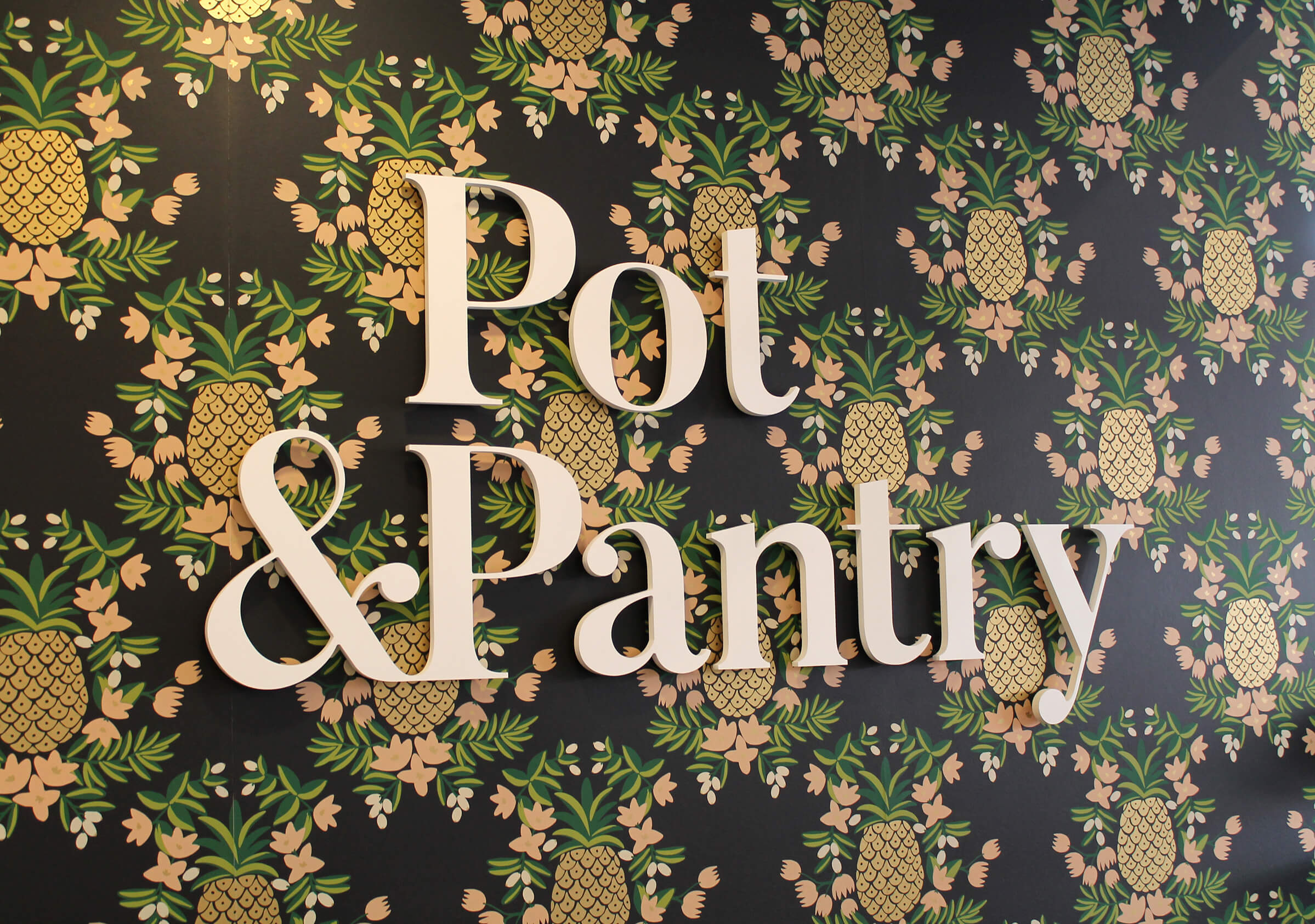 Pot&Pantry Indoor Signage by Ottawa Graphic Designer idApostle