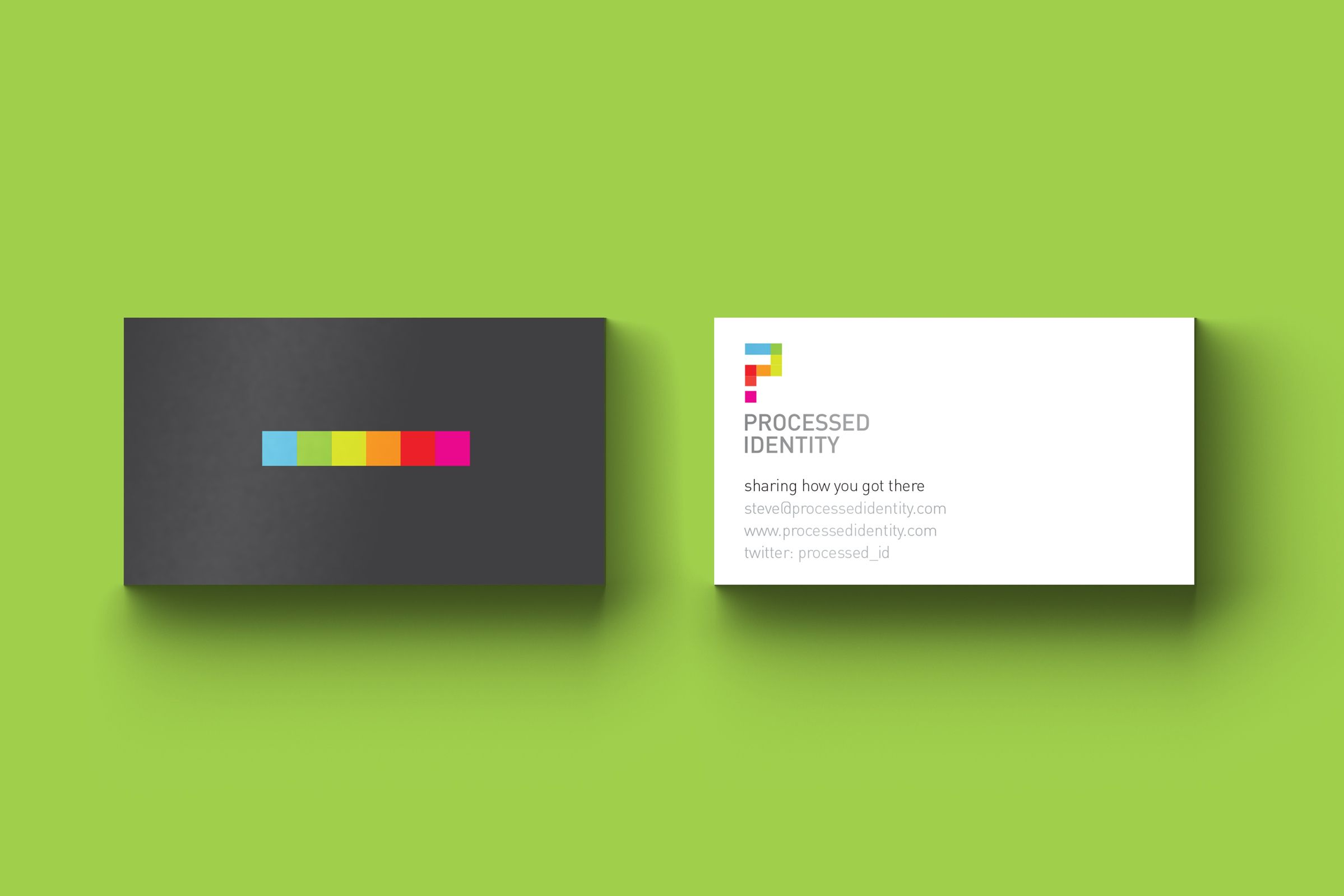 Business Cards for Processed Identity, Graphic Design Website by Ottawa Graphic Designer idApostle