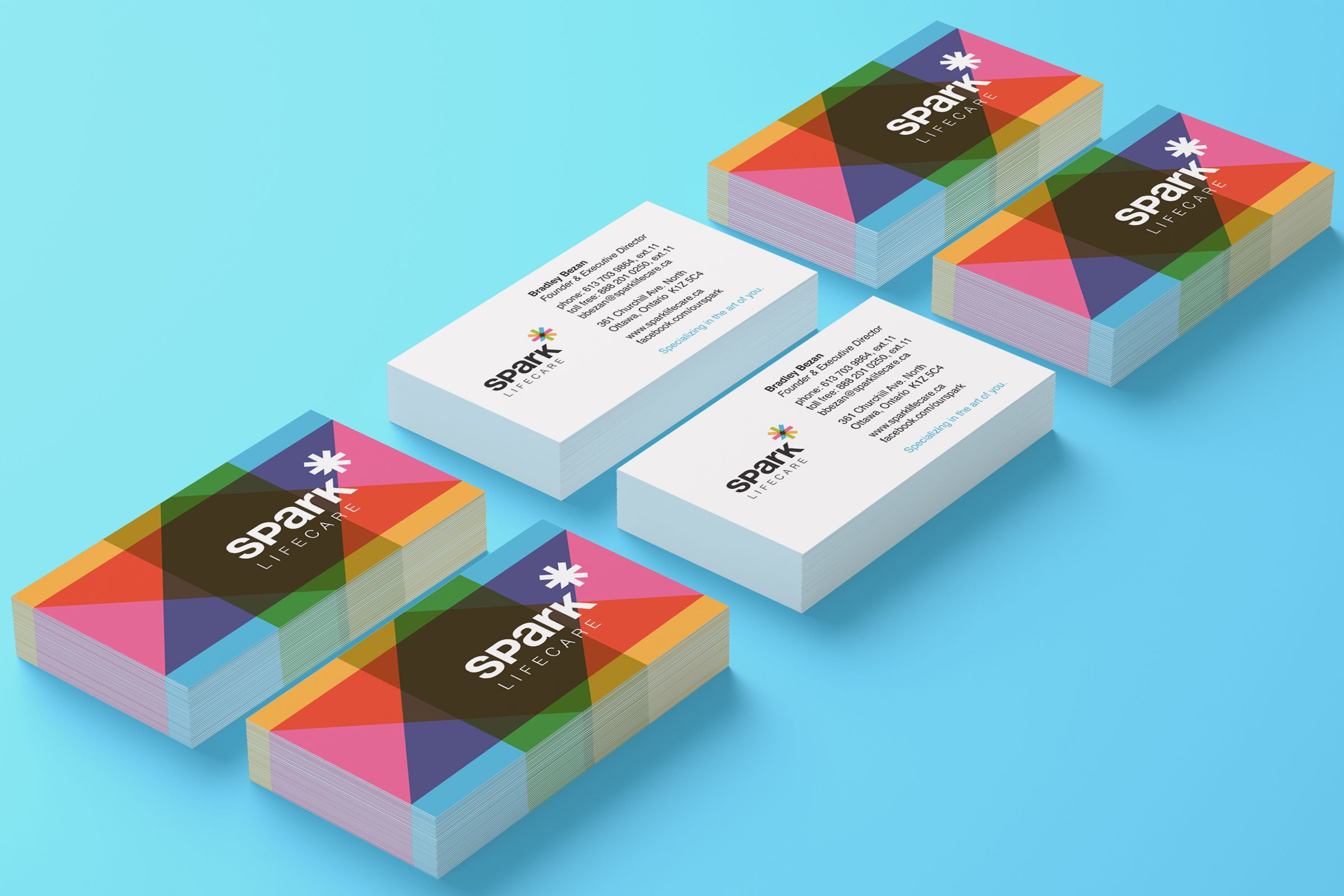 Business Cards for Spark Lifecare, life services organization by Ottawa Graphic Designer idApostle