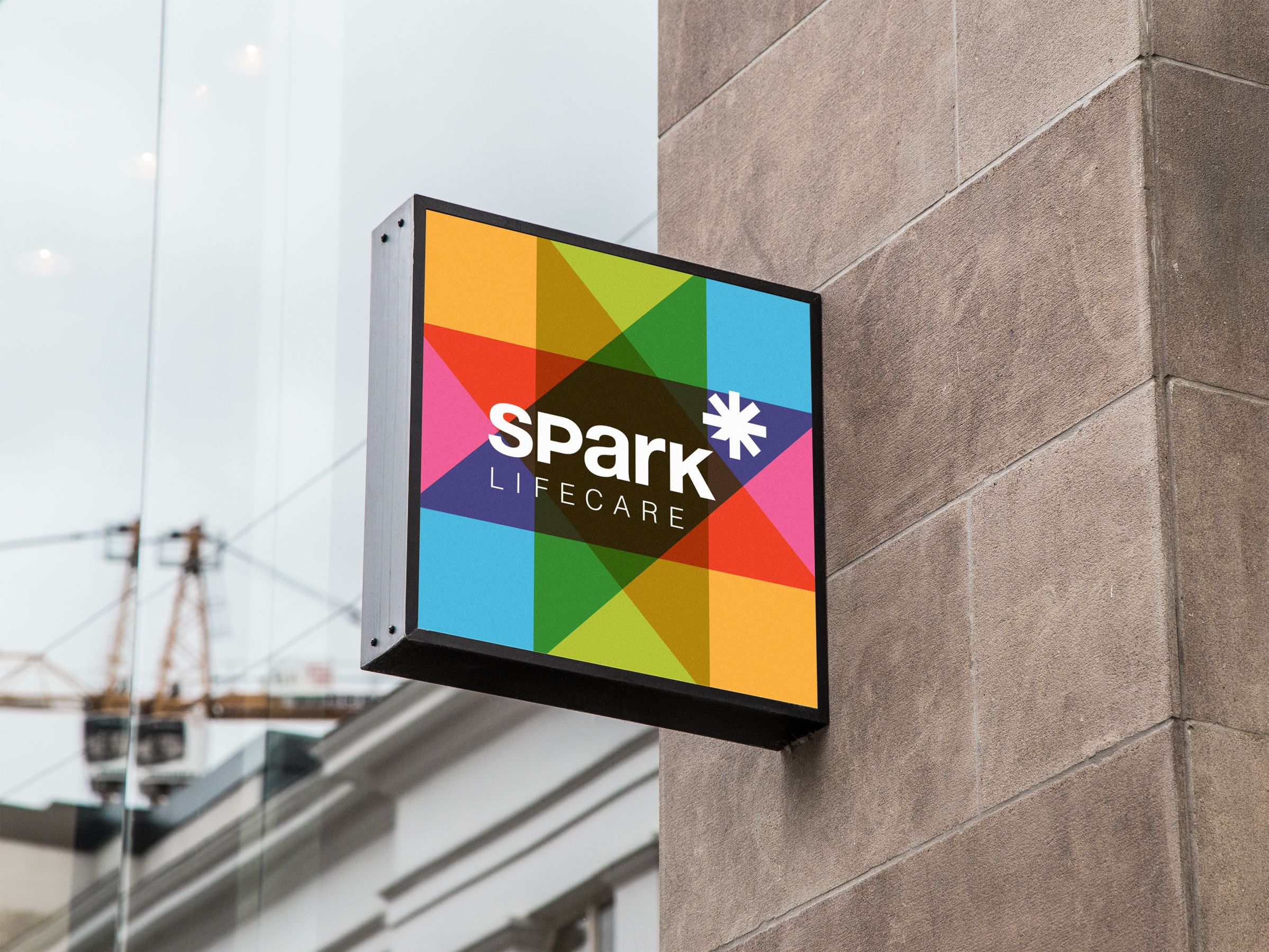 Signage for Spark Lifecare, life services organization by Ottawa Graphic Designer idApostle