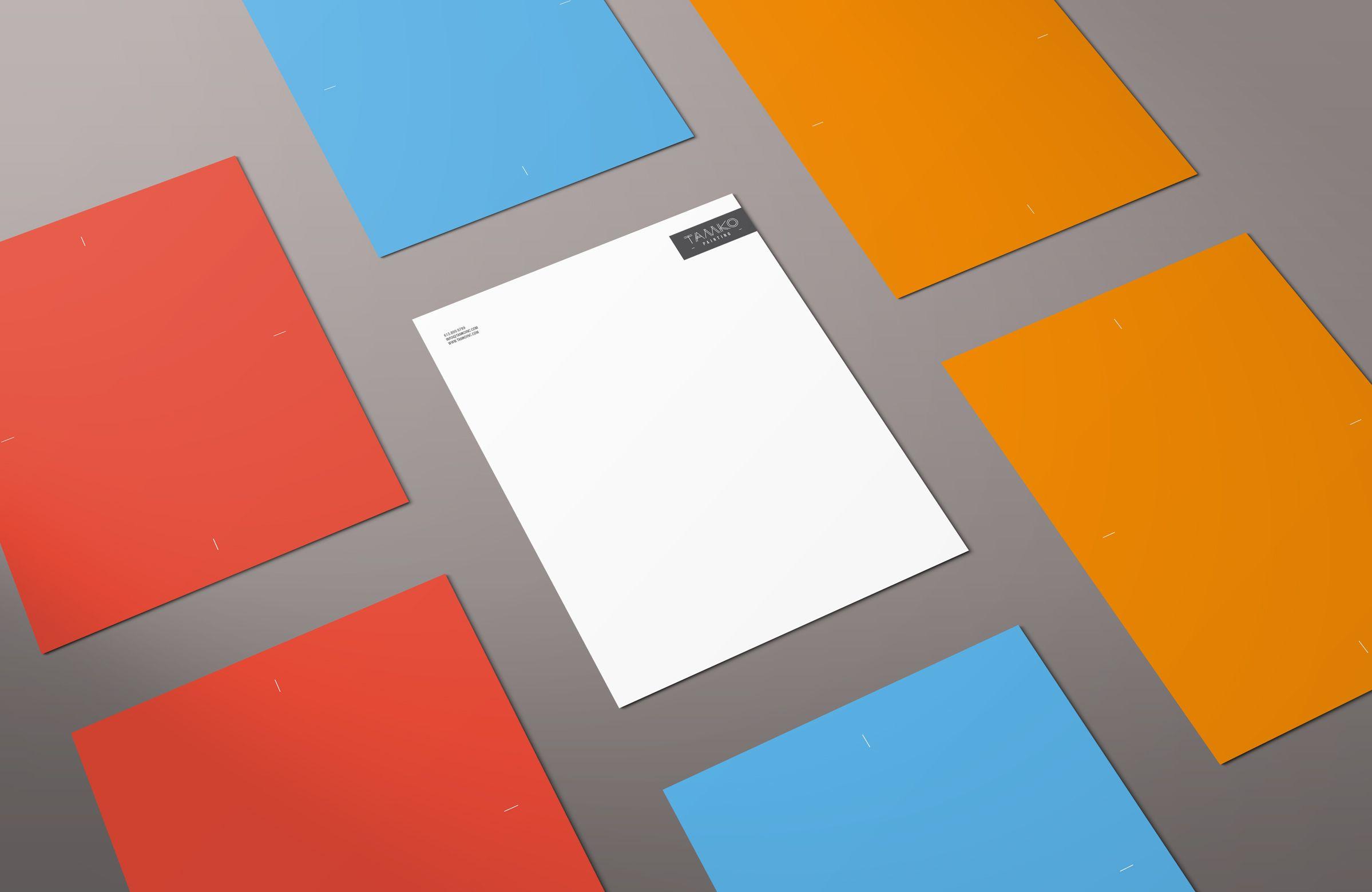 Letterhead for Contractor Company Tamko by Ottawa Graphic Designer idApostle