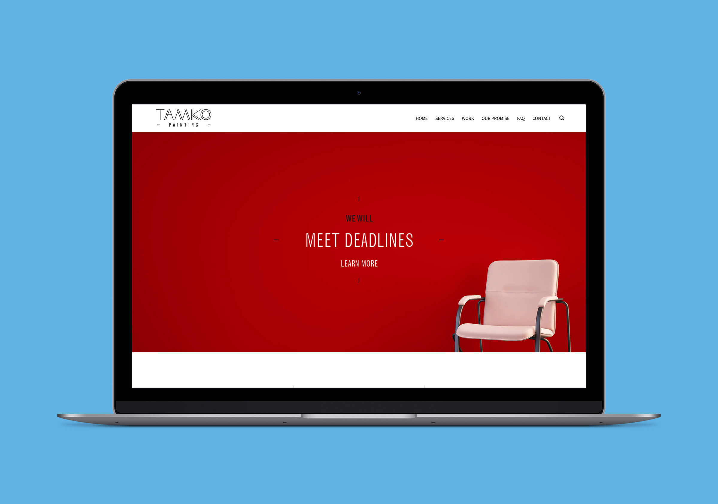Website for Contractor Company Tamko by Ottawa Graphic Designer idApostle
