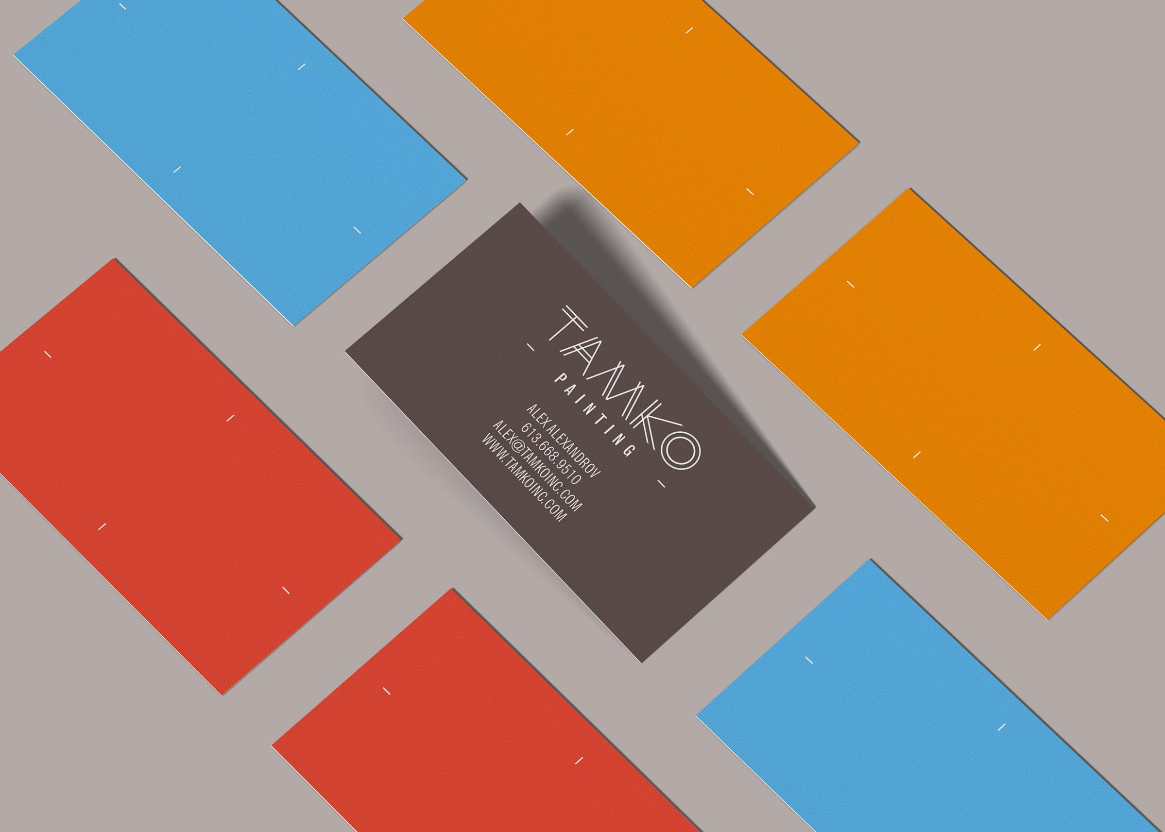 Business Cards for Contractor Company Tamko by Ottawa Graphic Designer idApostl