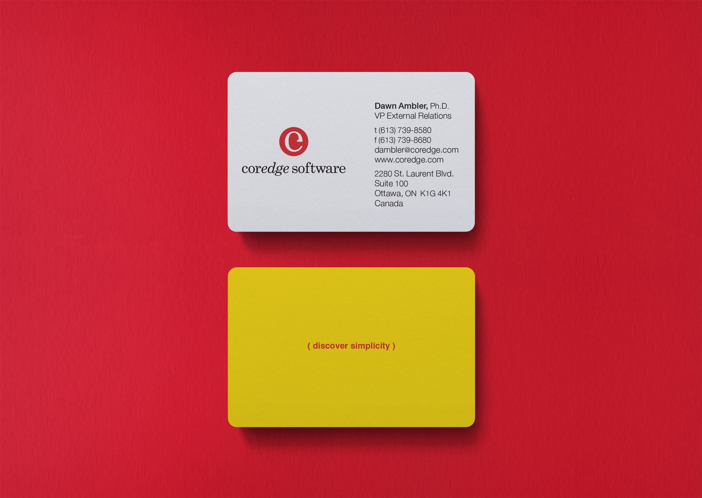 Coredge Software Business Card by Ottawa Graphic Designer idApostle