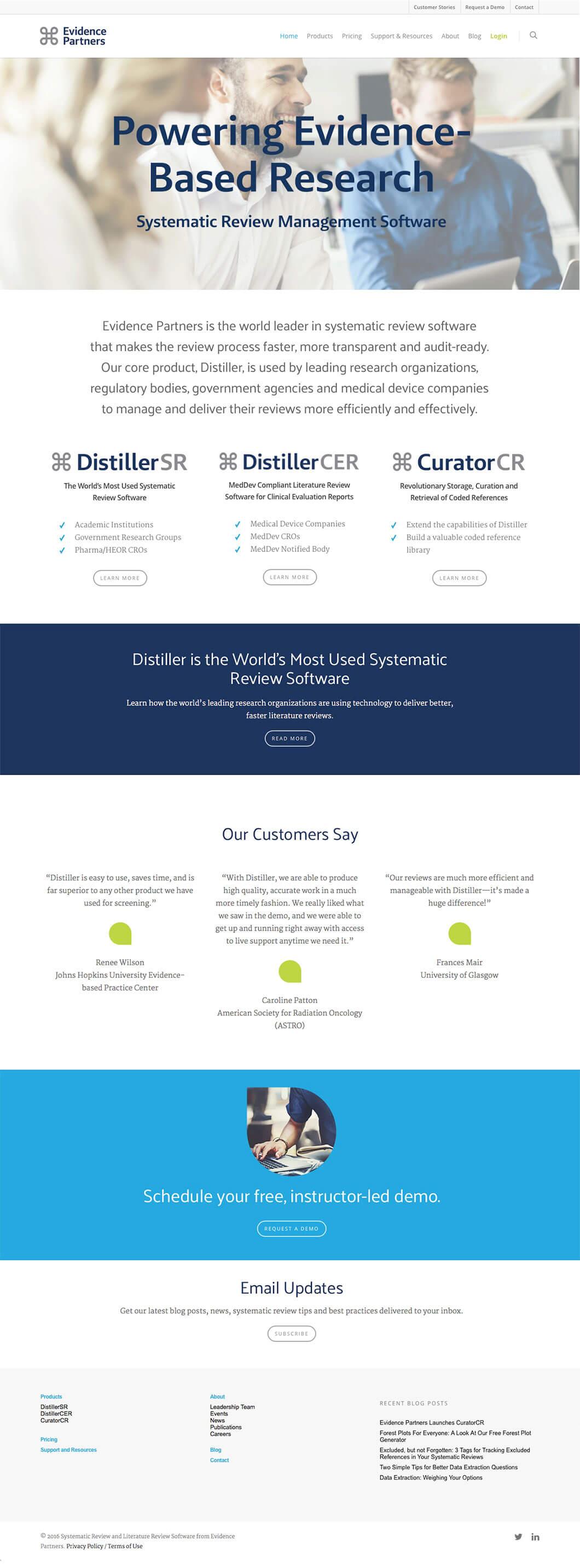 Evidence Partners Website by Ottawa Graphic Designer idApostle