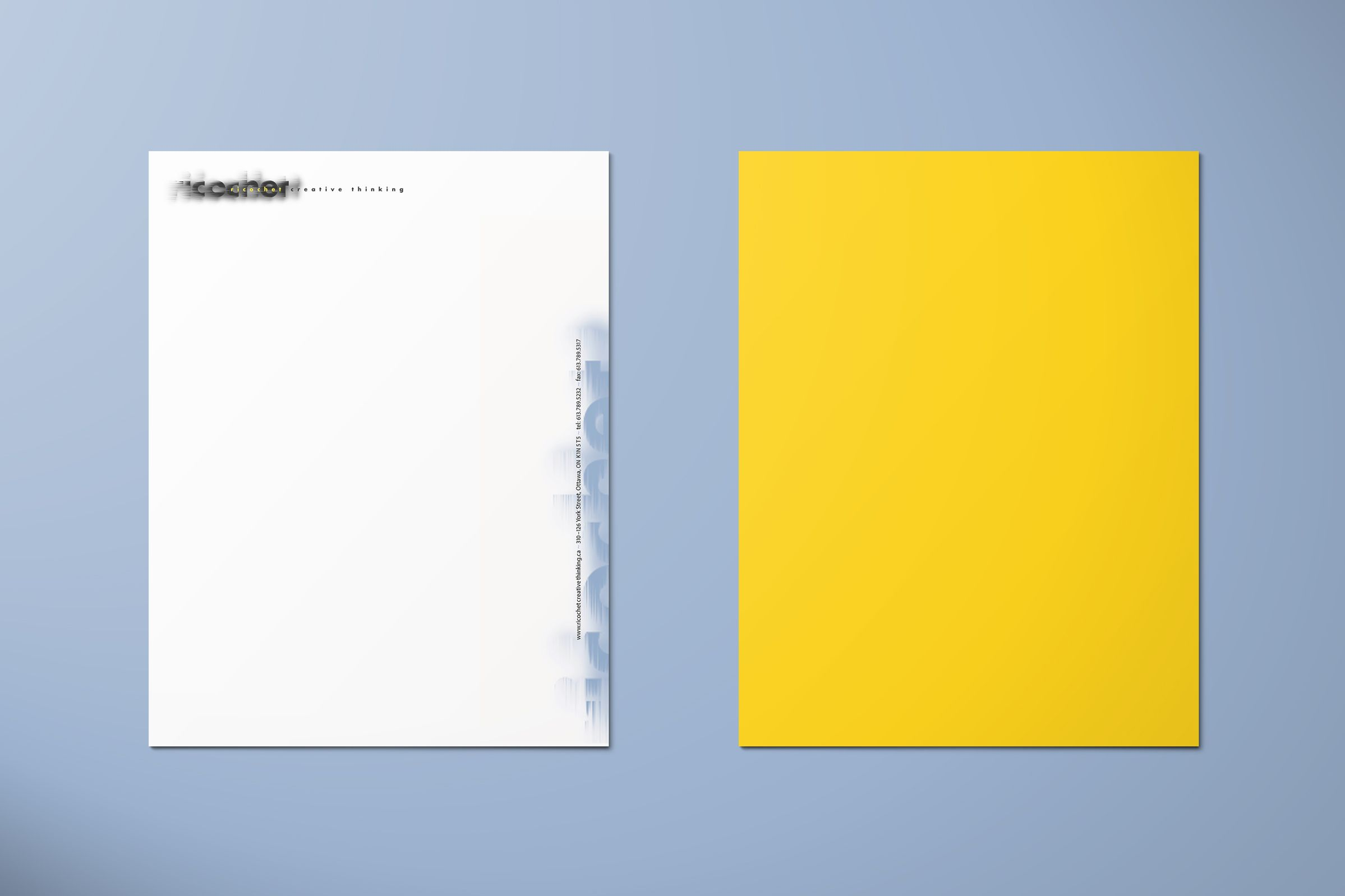 Ricochet Creative Thinking Letterhead by Ottawa Graphic Designer idApostle