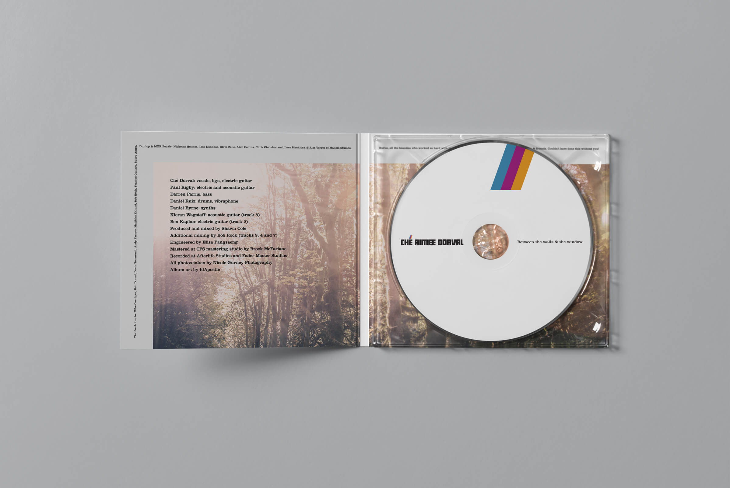CD Album artwork inside for Ché Aimee Dorval by Ottawa graphic designer idApostle