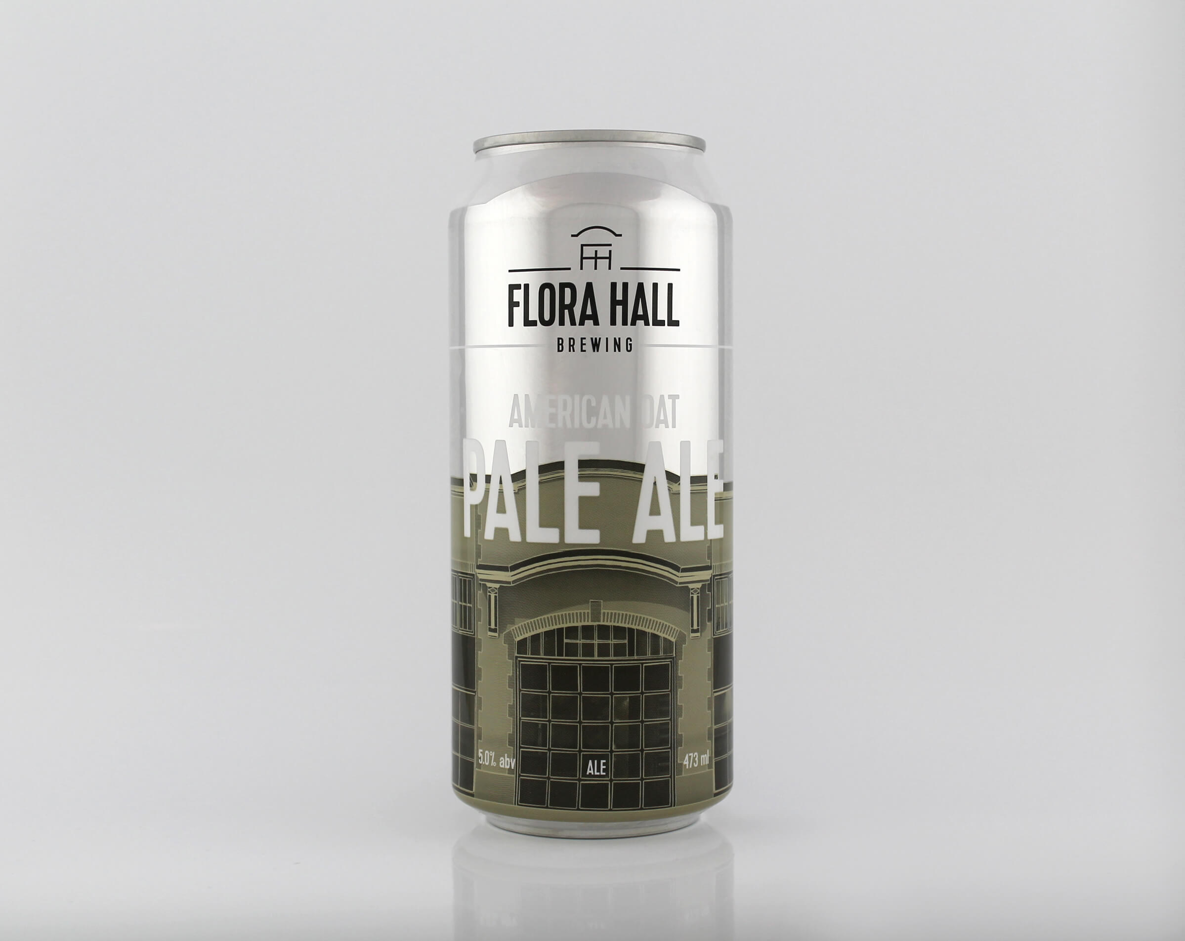 Beer can design for Flora Hall Brewing by Ottawa graphic designer idApostle
