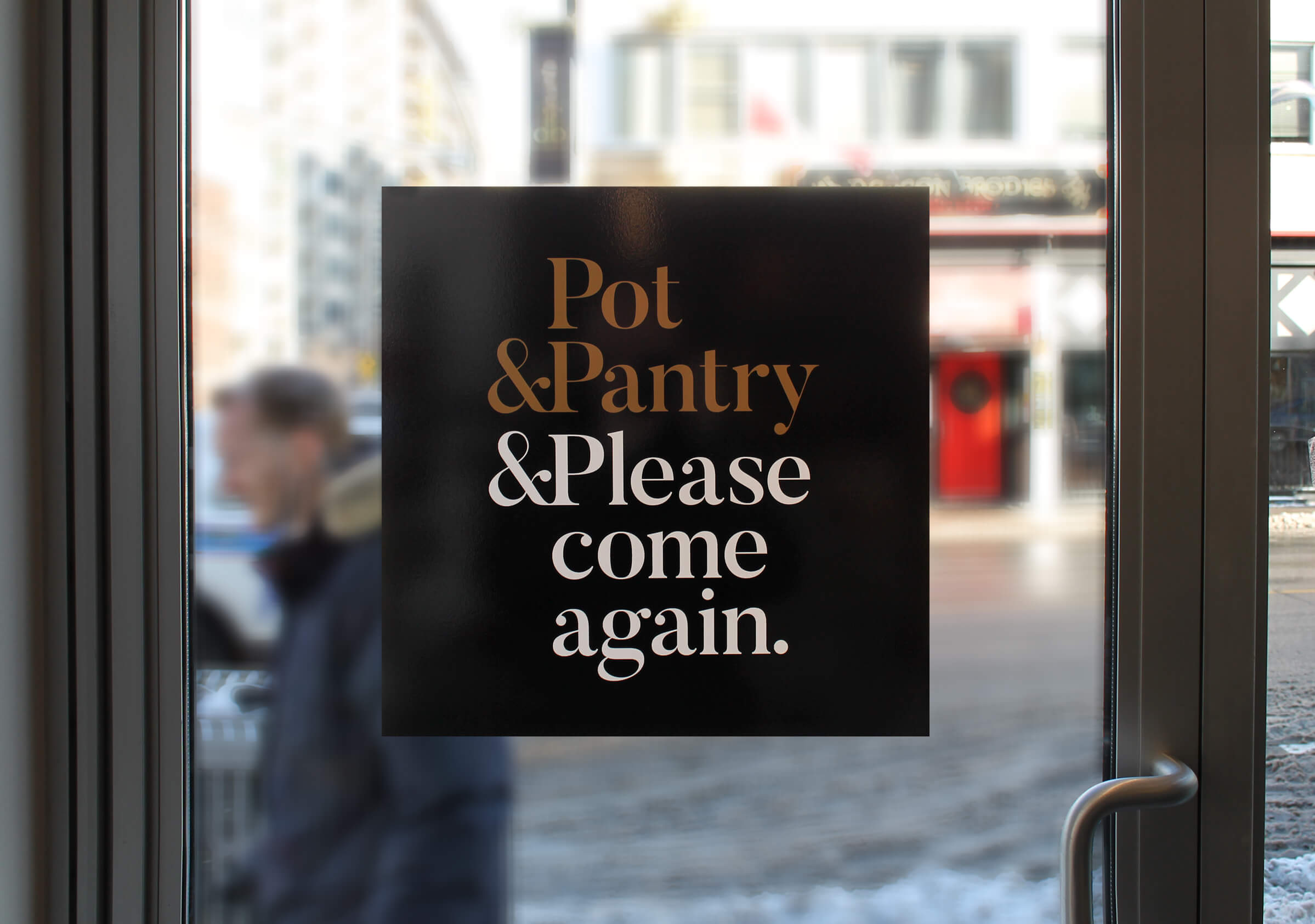 Pot&Pantry Door Signage by Ottawa Graphic Designer idApostle