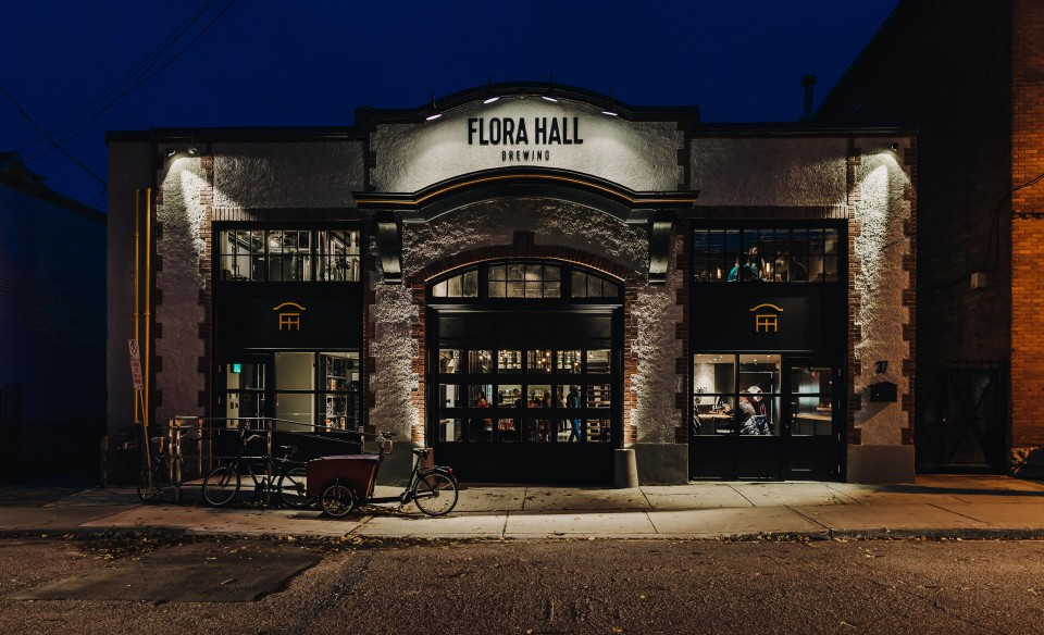 Brewery branding for Flora Hall Brewing by Ottawa graphic designer idApostle