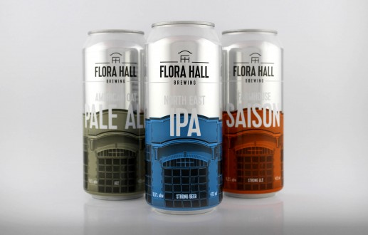 Beer Packaging and Branding for Ottawa's Flora Hall Brewing