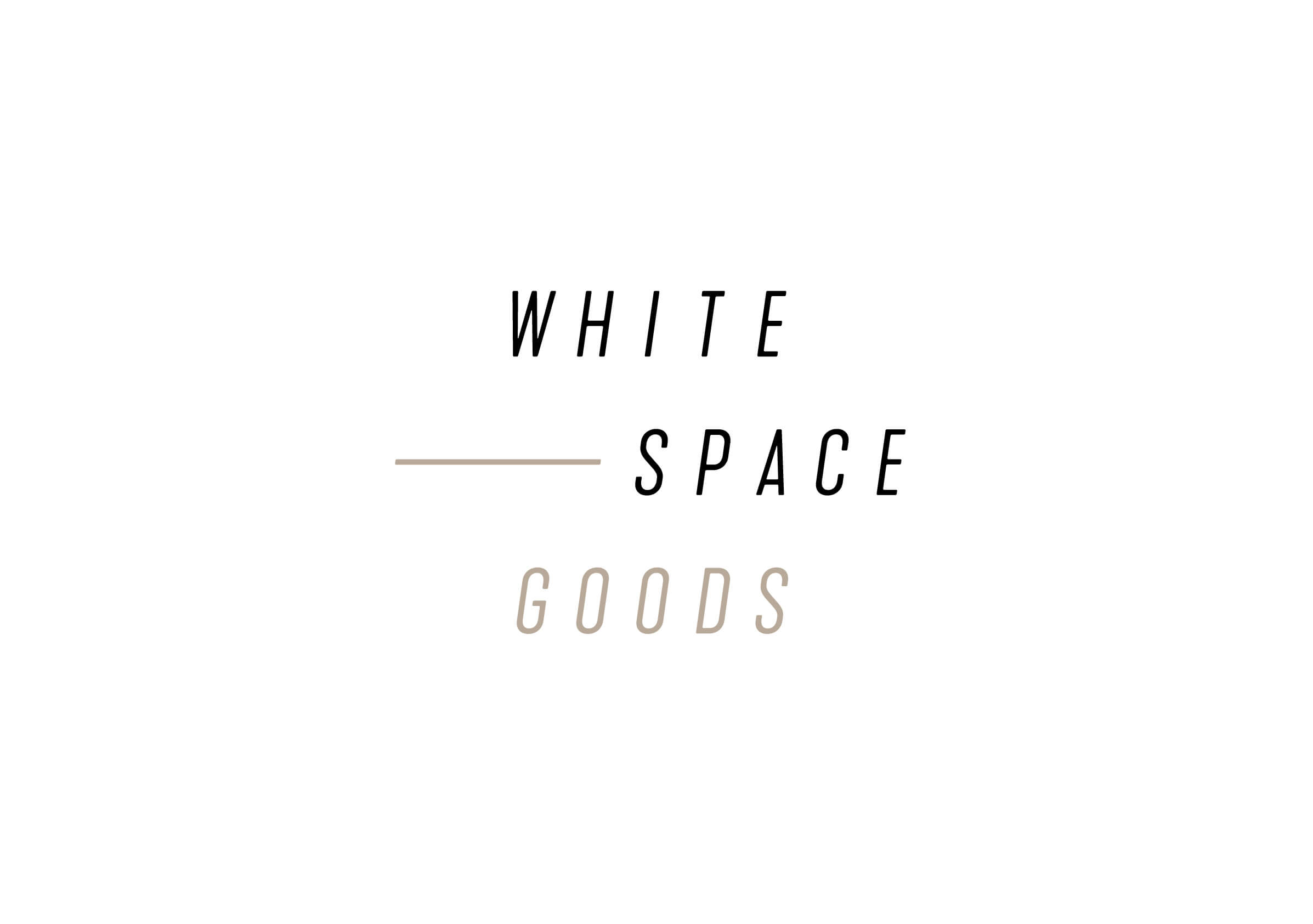 Whitespace Goods logo for Ottawa-based handmade knitware and decor by graphic designer idApostle