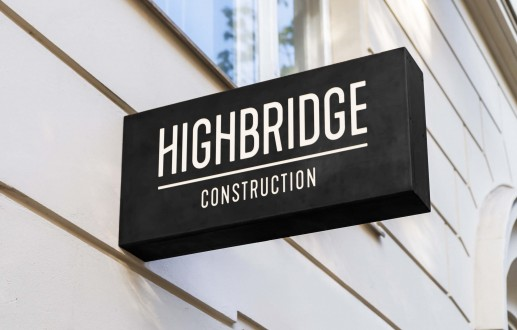 Highbridge Construction branding for Ottawa-based general contractor by graphic designer idApostle