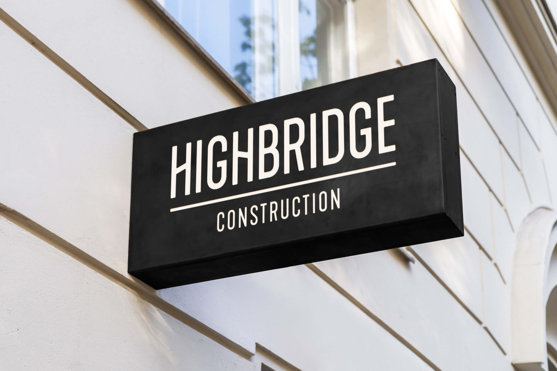 e592fa4c21 Branding for Ottawa-based construction company Highbridge Construction  including logo design