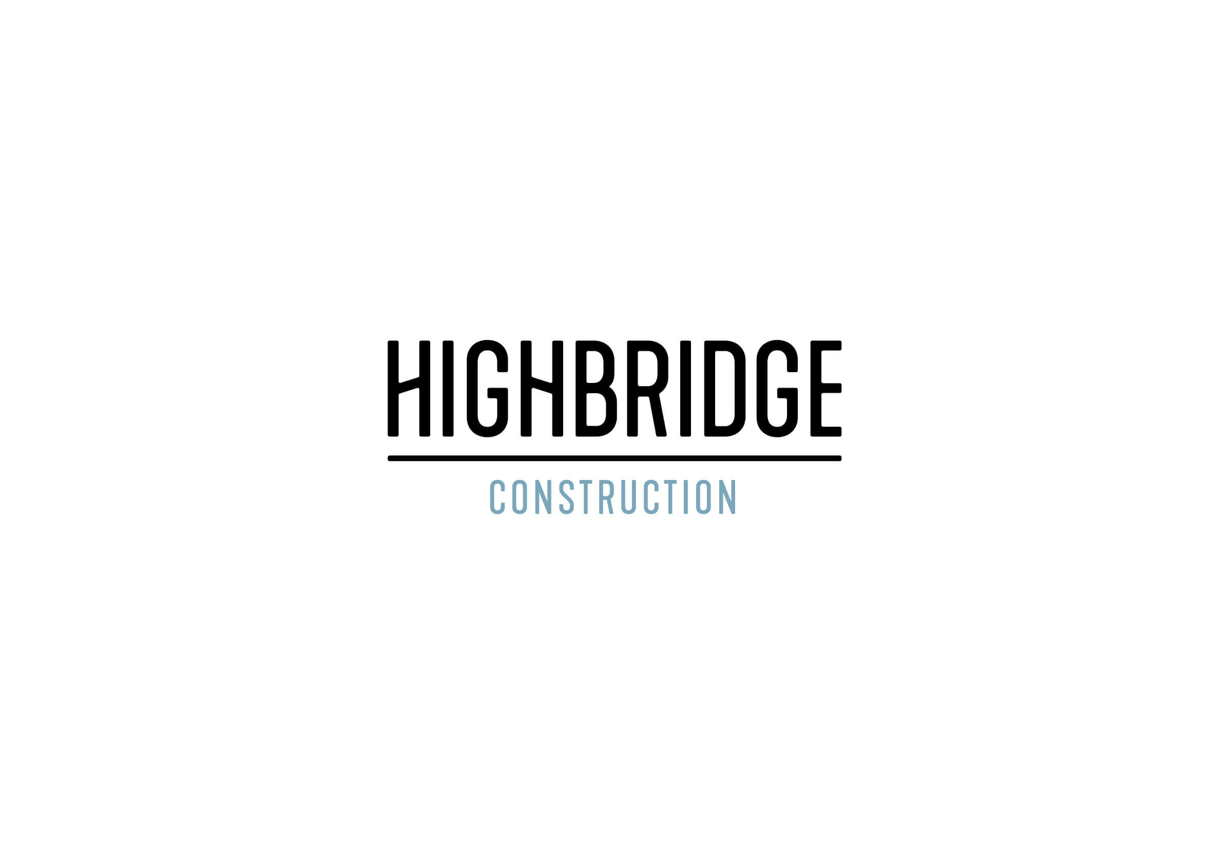 Highbridge Construction logo for Ottawa-based general contractor by graphic designer idApostle