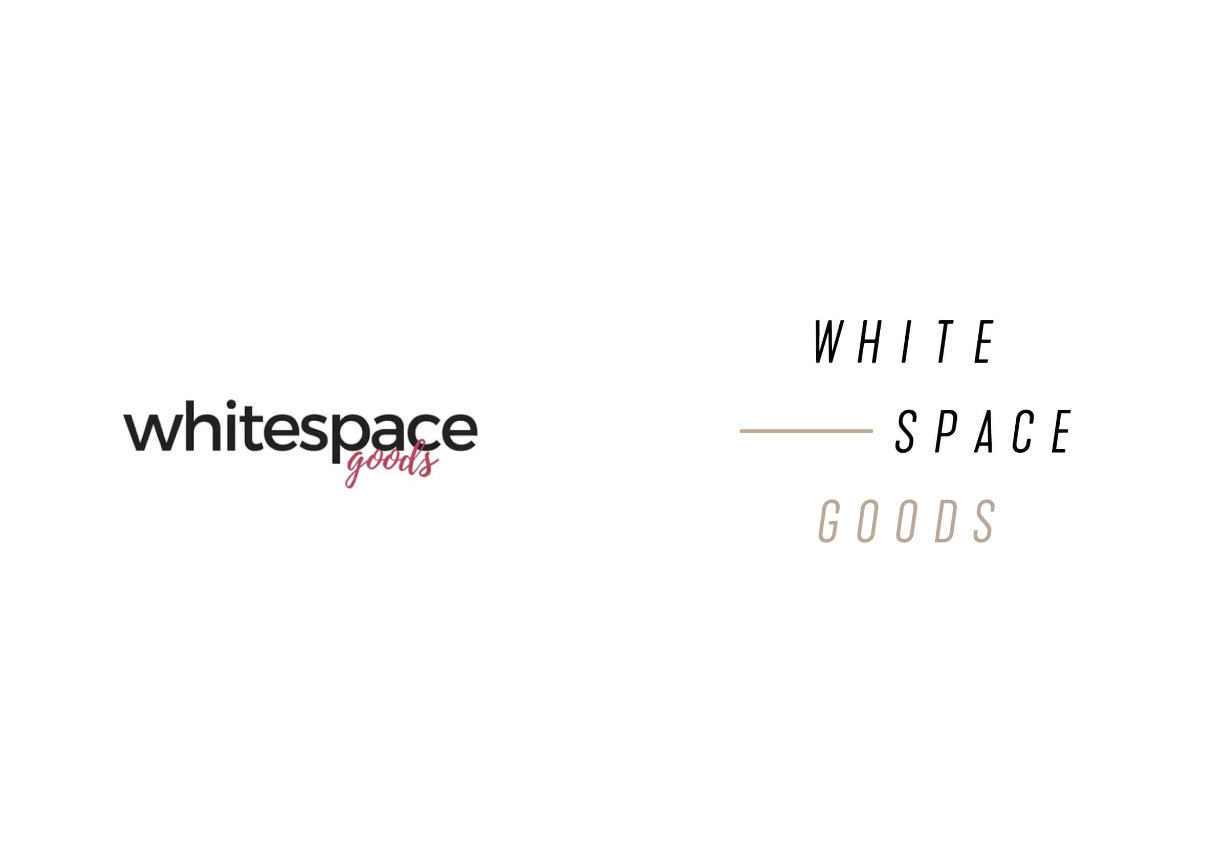 Whitespace Goods before and after logo Ottawa-based handmade knitware and decor by graphic designer idApostle